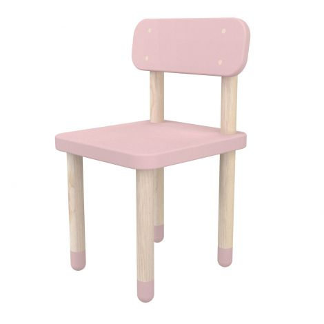 Chaise enfant Flexa Play avec dossier - rose