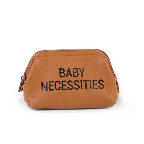 Trousse de toilette Baby Necessities similicuir - brun