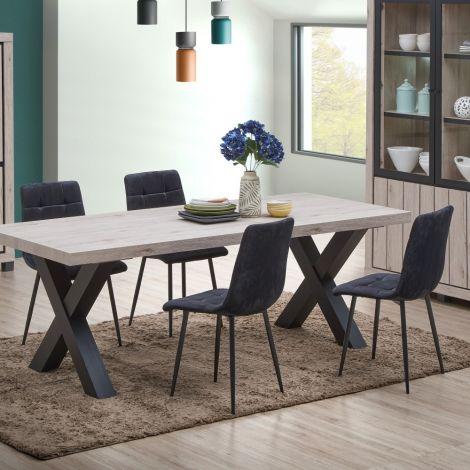 Lot de 4 chaises Elke - gris
