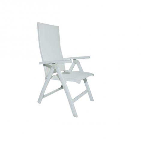 Chaise de jardin Liverpool - blanc