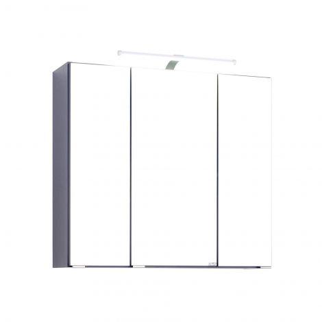Armoire de toilette Bobbi 70cm modèle 2 3 portes & eclairage LED - graphite