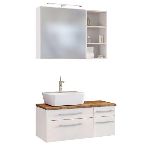 Ensemble salle de bains Dasa 15 gauche - blanc