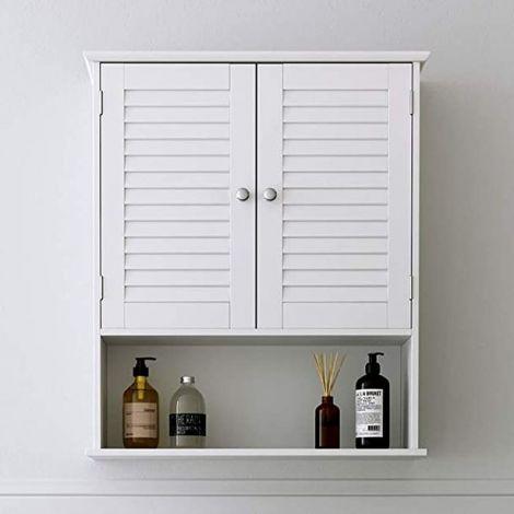 Armoire suspendue Maggy 60cm 2 portes - blanc