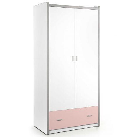 Armoire Bonny 2 portes - rose
