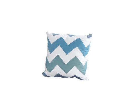 Coussin 30x30 - zigzag bleu