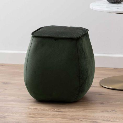 Pouf Mirza 40x40 - vert foncé