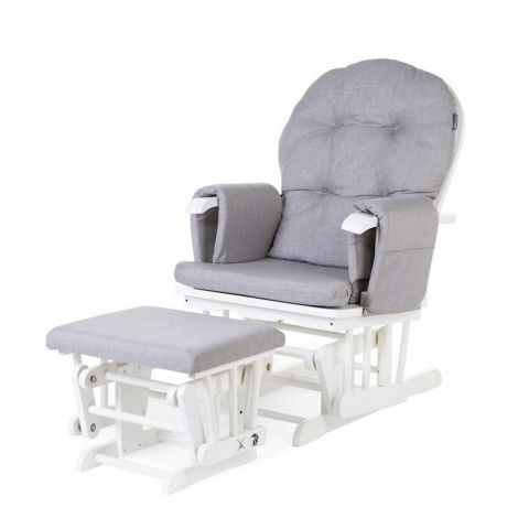 Fauteuil à bascule Gliding Chair avec repose-pieds - gris
