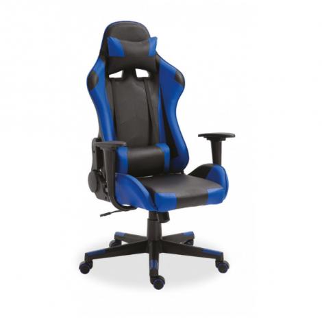 Chaise gamer Maxime - noir/bleu