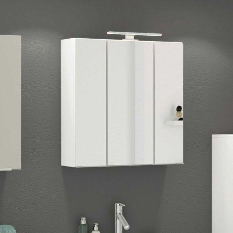 Armoire de toilette Hansen 60cm 3 portes - blanc