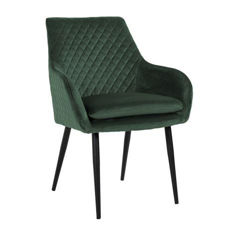 Chaise de salle à manger Bentho velours - vert