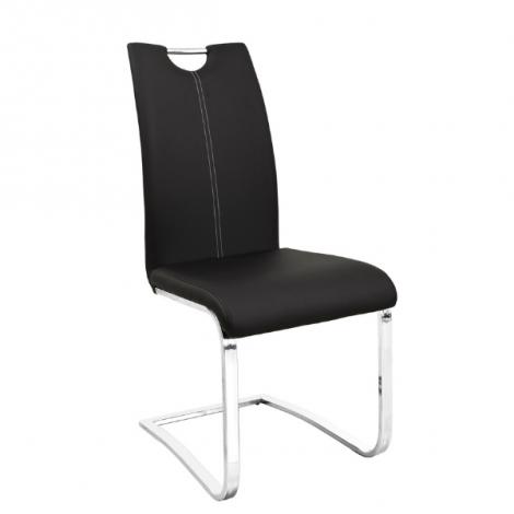 Lot de 2 chaises cantilever Sofia - noir