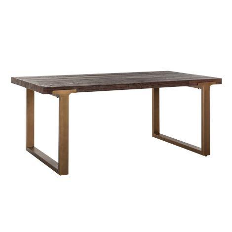 Table à manger Cromford 190x100 - brun/or