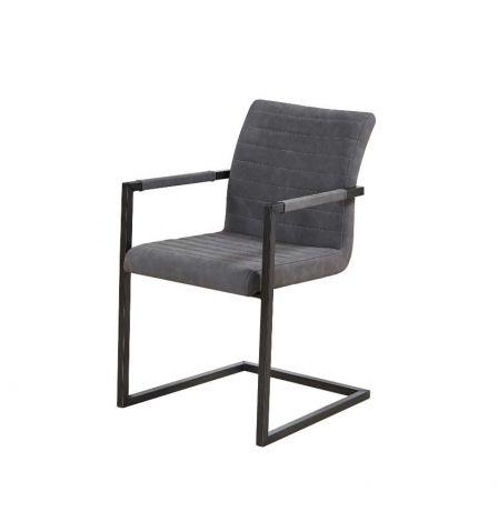 Lot de 2 chaises cantilever Britt - gris