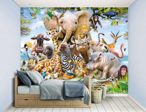 Papier peint Jungle Safari