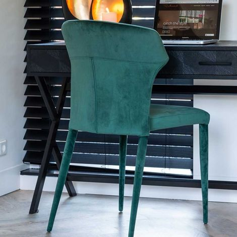 Chaise Pim velours - vert