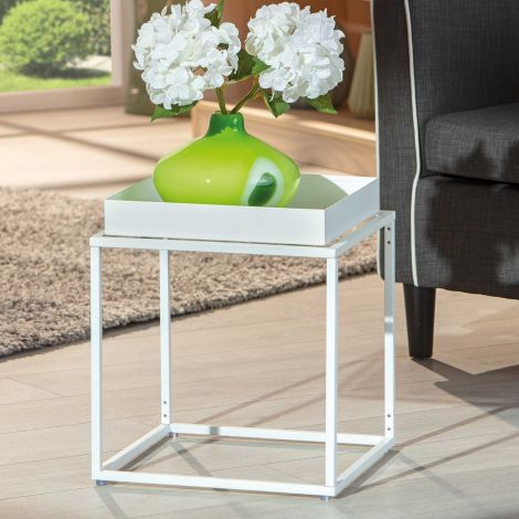 Table d'appoint Club - blanc