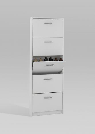 Armoire à chaussures Step à 5 tiroirs - blanc