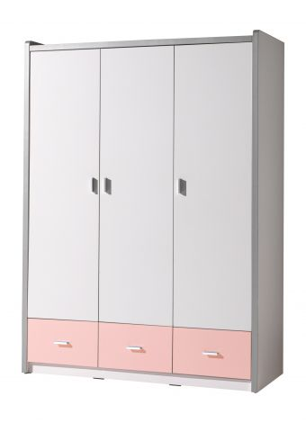Armoire Bonny 3 portes - rose