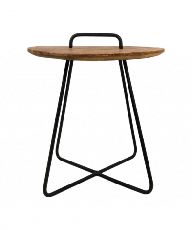 Table d'appoint Madison - teck / fer
