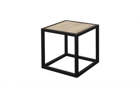 Table d'appoint Diva 40x40x40cm industriel - noir