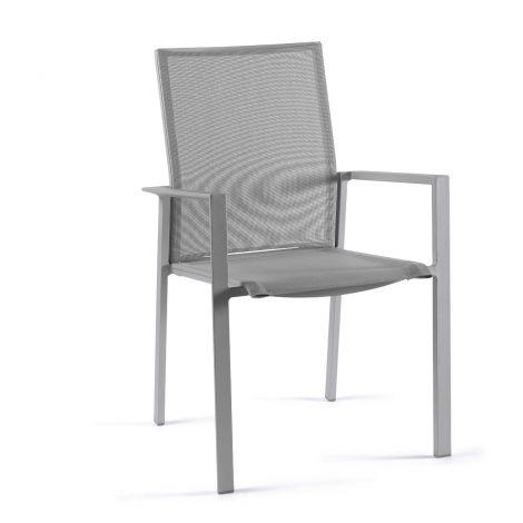 Chaise de jardin Sanne - gris argenté/gris clair