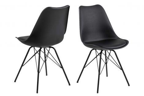 Set de 2 chaises coquilles Irma - noir