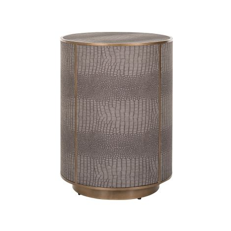 Table d'appoint Classico Ø45 - similicuir