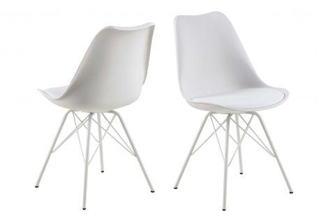 Set de 2 chaises coquilles Irma - blanc