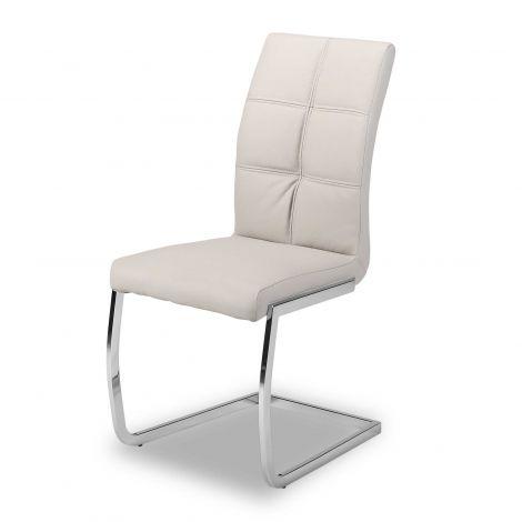 Lot de 2 chaises cantilever Eva - gris