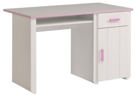 Bureau enfant Beauty rose/blanc