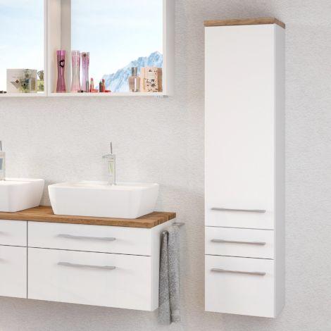 Colonne Dasa 30cm 1 porte & 2 tiroirs - blanc