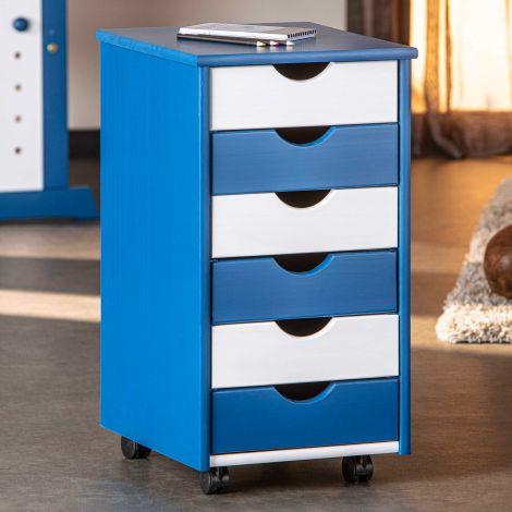 Caisson à tiroirs Dana bleu