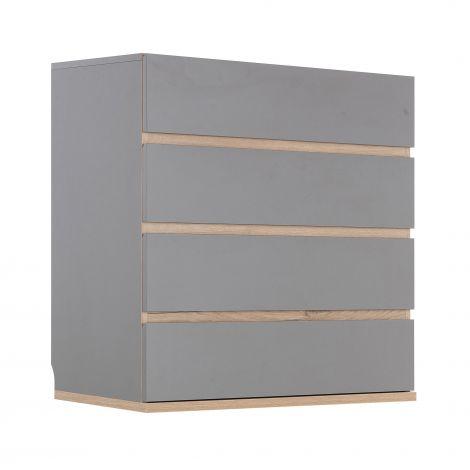 Commode Birger 4 tiroirs - gris