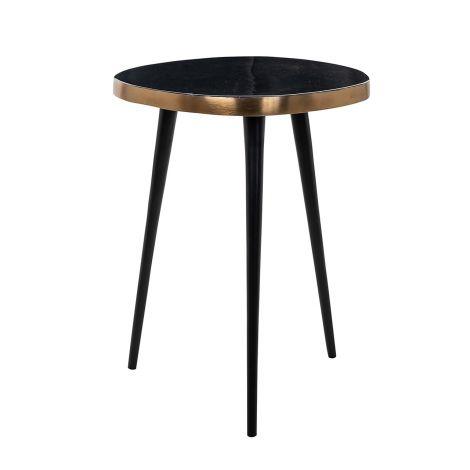 Table d'appoint Levo - noir/or