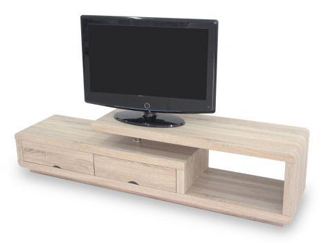 Meuble tv Crystal 180cm - sonoma clair