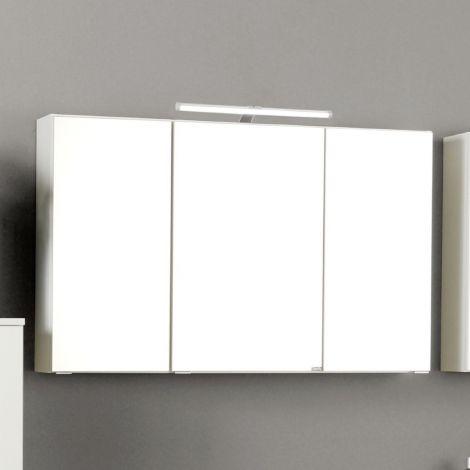 Armoire de toilette Florent 120cm 3 portes & éclairage LED - blanc