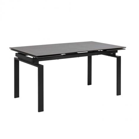 Table à manger extensible Hunor 160x/240x85 - noir