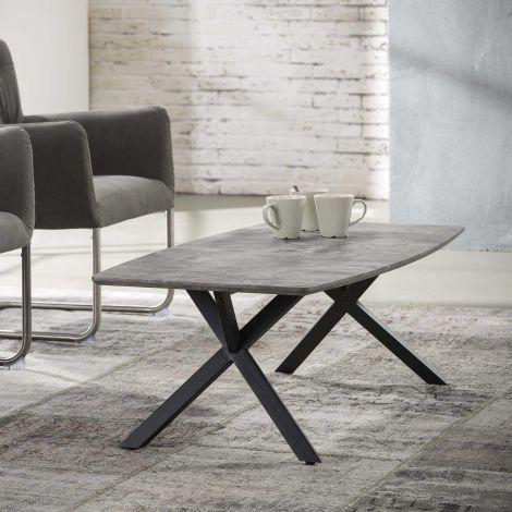 Table basse Alec 60x120 industriel - béton