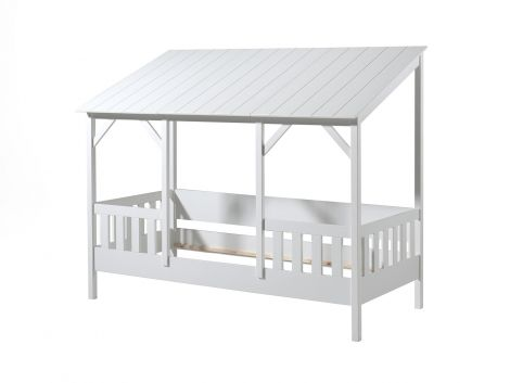 Lit cabane Malia 90x200 - toit blanc