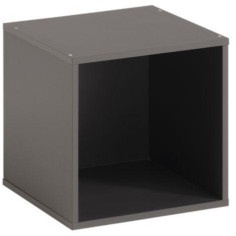 Cube de rangement Cubicub avec 1 niche - gris