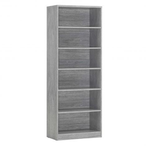 Bibliothèque Spacio 72cm à 5 tablettes - chêne gris