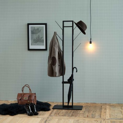 Portemanteau Vinci avec porte-parapluie - noir