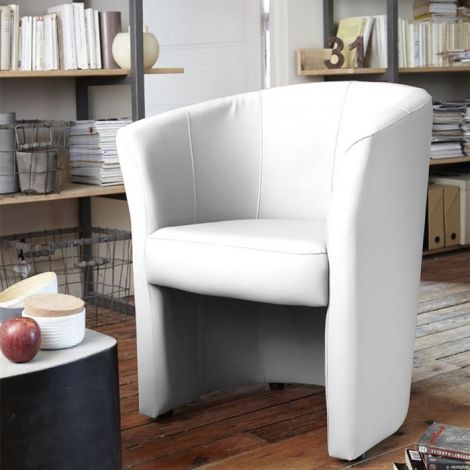 Fauteuil cabriolet Charlie - blanc