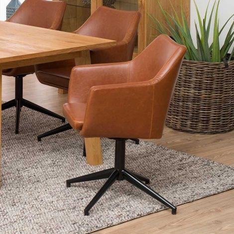 Chaise de salle à manger Ada - brun
