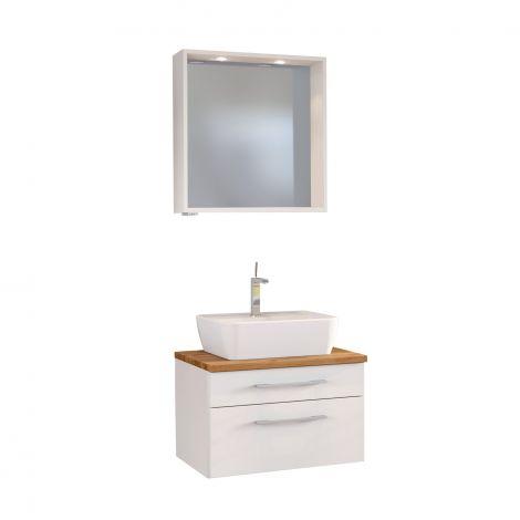 Set meuble lavabo & miroir Dasa 60cm - blanc