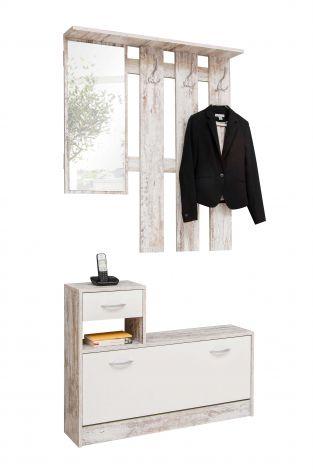 Vestiaire Rudolf - fresque/blanc