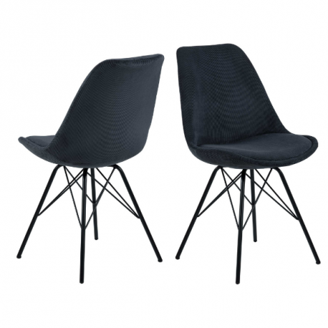 Lot de 2 chaises coquilles Iram en velours - vert olive