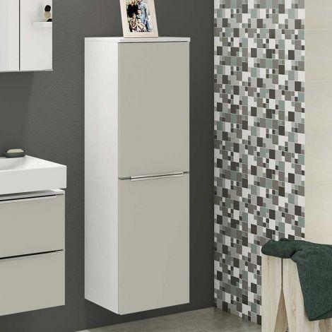 Colonne Hansen 40cm 2 portes - gris/blanc