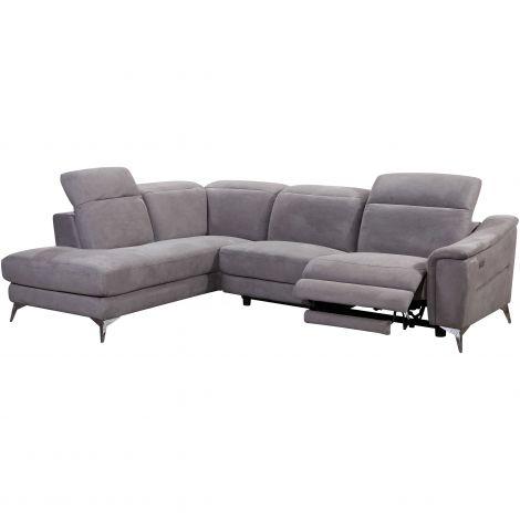 Canapé d'angle Novara avec fauteuil relax à droite
