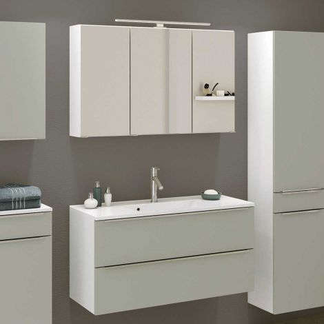 Ensemble salle de bains Hansen 10 100cm - gris/blanc